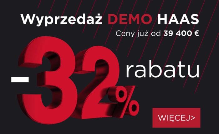 Wyprzedaż maszyn demonstracyjnych Haas
