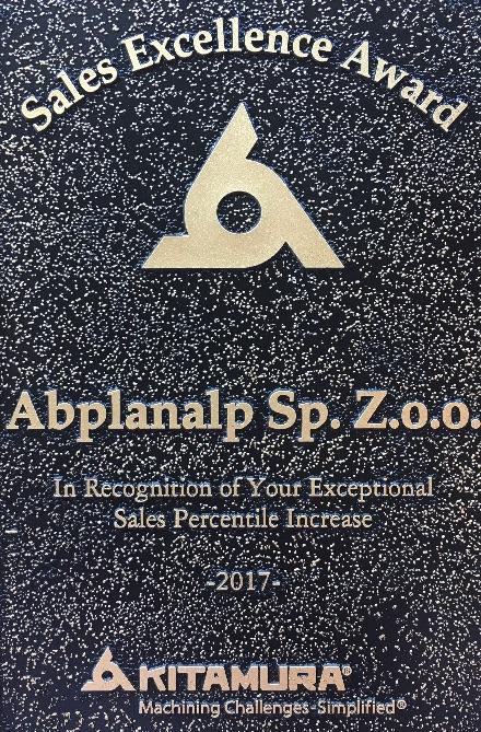 Abplanalp nagrodzony przez Kitamura Machinery