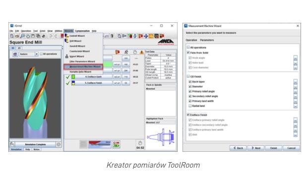 Kreator pomiarów ToolRoom