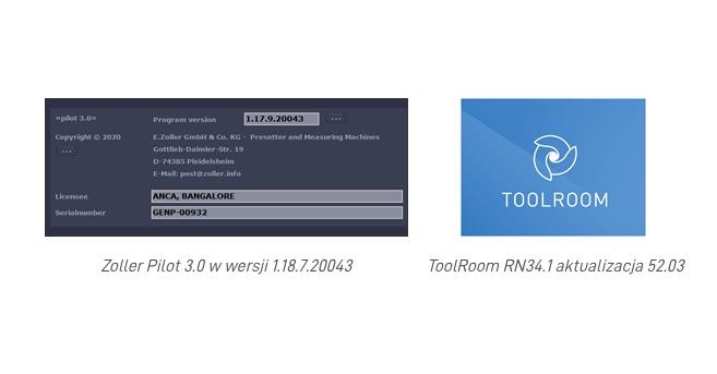 Zoller Pilot 3.0 i aktualizacja ToolRoom RN34.1