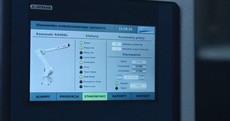 Aplikacja do obsługi stanowiska ASTOR Green Welding