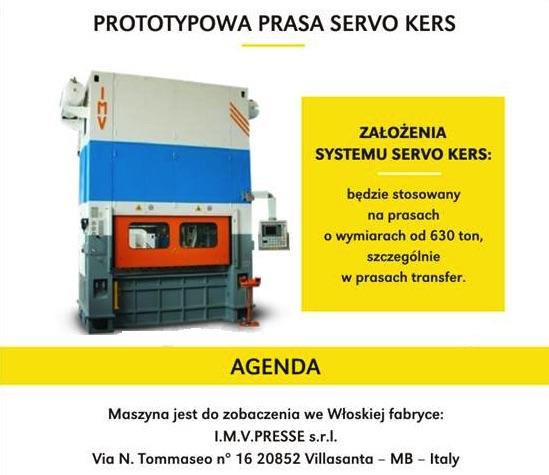 prototypowa Prasa Servo KERS.