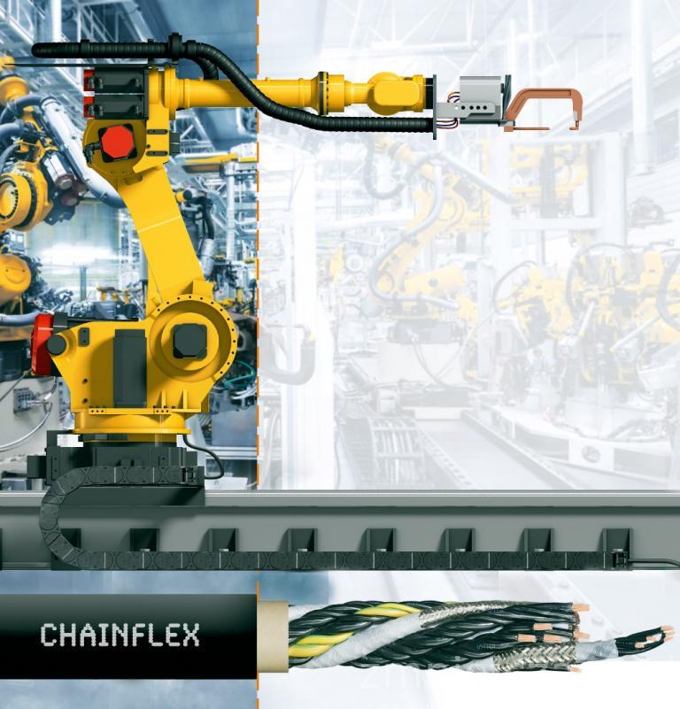 Przewody zaprojektowane z myślą o 7-osiowych robotach Fanuc