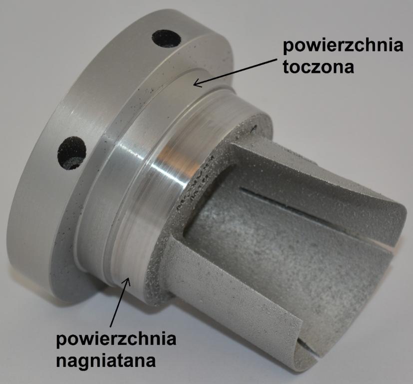 Rys. 1. Forma wtryskowa wykonana ze stopu aluminium AlSi10-Mg metodą SLM poddano obróbce wykończeniowej