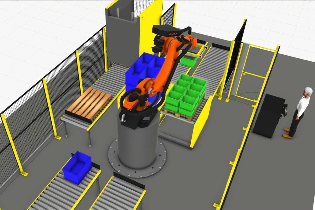 Robot KUKA KR150 R2700 na lini paletyzującej
