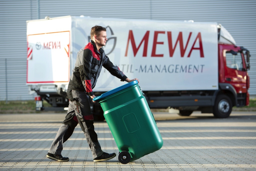 MEWA składowanie i transport czyściw w pojemnikach