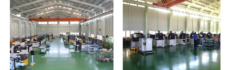 Hale produkcyjne oraz centrum testowe maszyn.