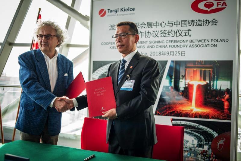 Targi Kielce METAL 2018 podpisanie umowy z chinami